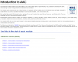 AAC E-Learning, courses 1 – 5