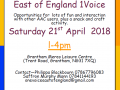 1Voice Meet Saturday 21st April